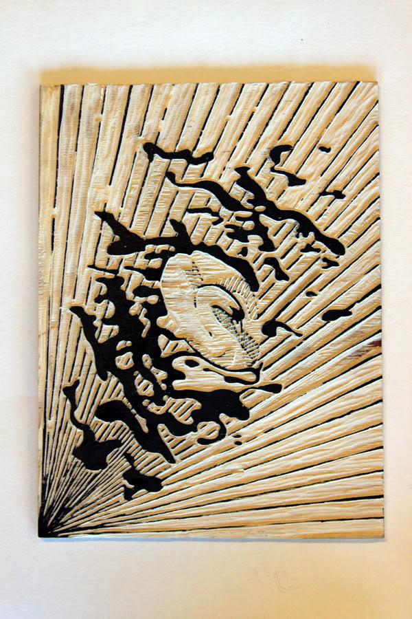 Linoleum print. Click for bigger size.